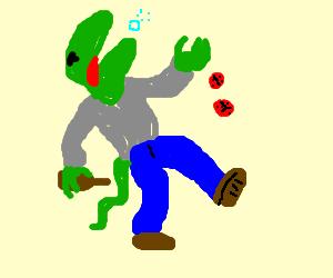 Lizardman to drunk to play craps