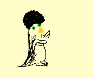 psychodelic penguin w/afro - boogie time