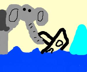 Elephant uses trunk to save Titanic