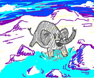 Giant elephant invades the Arctic sea