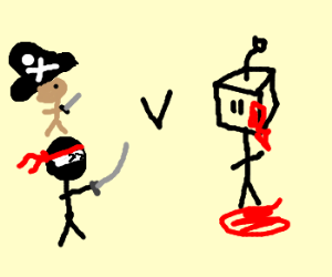 Ninjas and Pirates vs Robot Zombies.