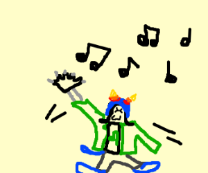 Dancing green troll