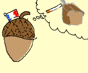 French acorn dreams of smoking and bread