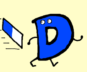 letter D tries to keep the eraser away