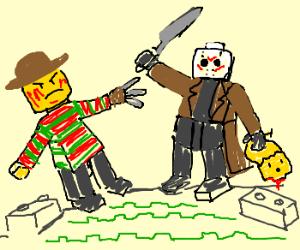 lego freddy vs. lego jason