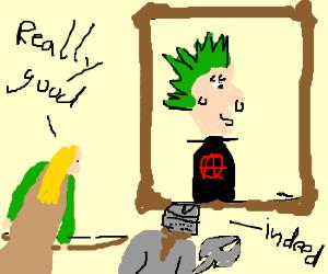 Legolas & Gimli appreciate punk portrait