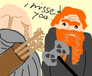 Legolas missed Gimli