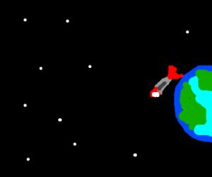 Mario rocket orbits earthlike planet