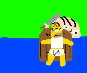 Stewie Griffin tries to kill Homer