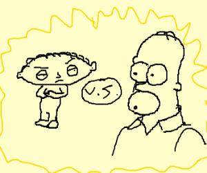 stewie griffin vs homer simpson