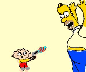Stevie Griffin vs Homer Simpson