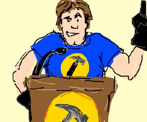 Super Hero Hammers Make Speech