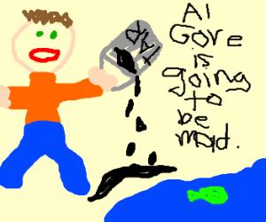 Man drops tar near water source