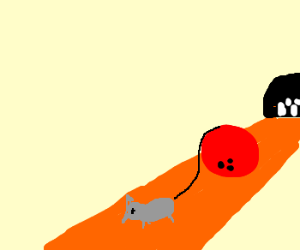 Bowling ball drags mouse down lane