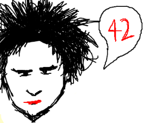 Robert Smith solves the meaning of life