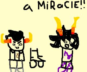 miracle! paraplegic walks!