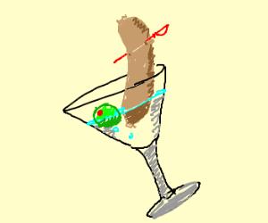 Vodka hotdog