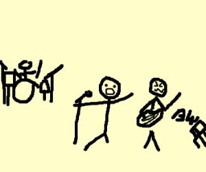 Band of stickmen
