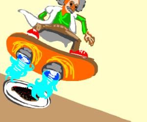Hoverboard scientist burns his food