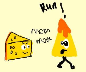 cheese likes cheesy nacho