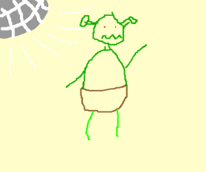 Shrek celebrates in a disco