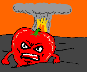 Mutant apple born from nuclear explosion