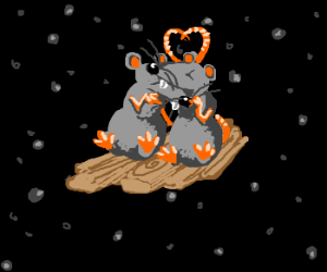 Two rats drifting in space find love