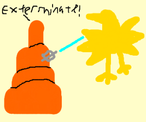 Carrot w/ moustache fire laser at Zapdos