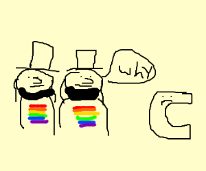 Gay Amish men question C