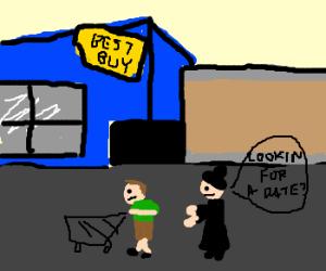 Amish prostitute at Best Buy