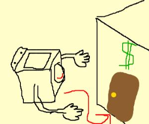 washing machine going to the bank w/euro