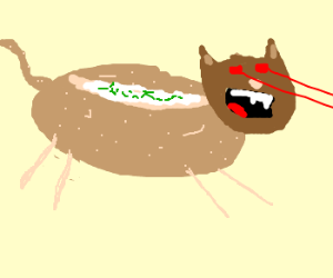 Baked potato laser cat.