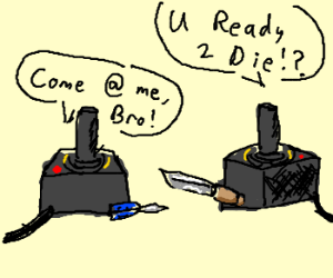 battle of atari joysticks