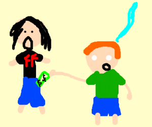 Soulless ginger steals money off Grohl
