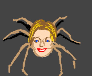 Hillary Clinton as a spider
