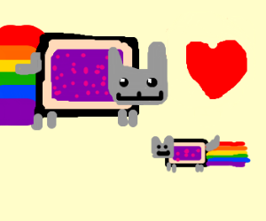 Baby Nyan Cat Drawception