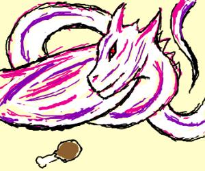 Ultra cool purple dragon want turkey leg
