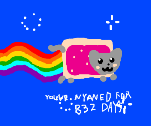 High score of listening to Nyan cat