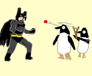 Batman vs. Slingshot Penguins!