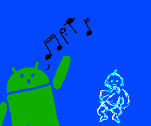 Andriod sings for invisible baby
