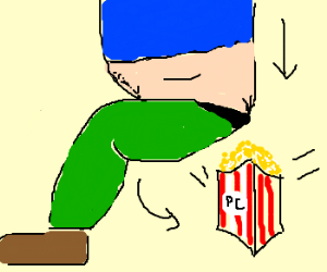 A box of popcorn is nuked by Fat Man