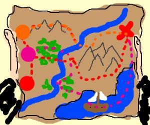 Multiple choice treasure map.