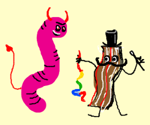 devil worm discovers magic bacon