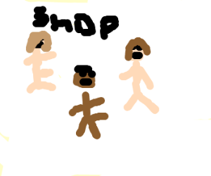 Everybody in shop is naked