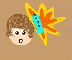 Justin Bieber hit by water bottle
