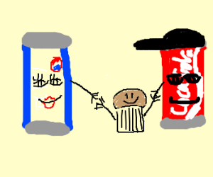 Mama Pepsi, Dada Coke, baby cupcake