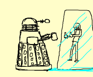 Cryogenically frozen man taunts dalek