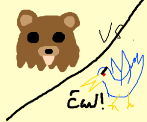 Pedo Bear Pika Vs. Scary Bird Mon