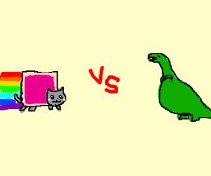 Nyan cat x dinosaur