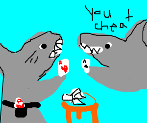 Cheating at shark poker